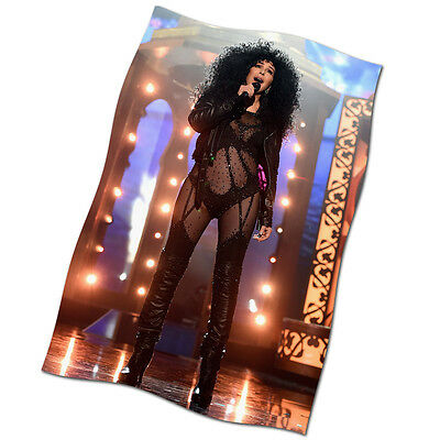 """Cher Flag Banner 30"""" NEW 2017 If I Could Turn Back Time Love And Understanding"""