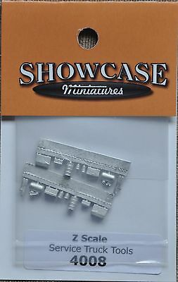 1:220 Z Scale Model Cast Metal Service Truck Tools X 2 Sets - For Mow Etc.
