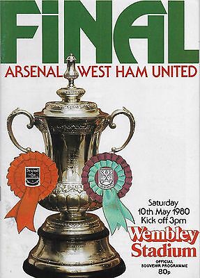 1980 Fa Cup Final Programme-Arsenal V West Ham United