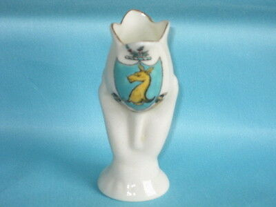 Willow Art China Tulip In Hand Vase - HINDHEAD crest