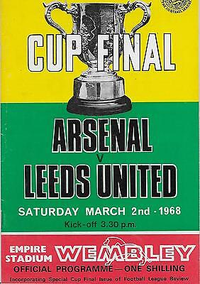 1968 League Cup Final Arsenal V Leeds United
