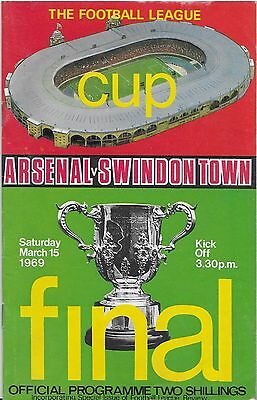 1969 League Cup Final Arsenal V Swindon Town