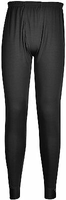 Portwest B131BKRM Medium Thermal Base Layer Trousers - Black