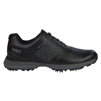 Stuburt 2017 Gents Helium Tour eVent Spikeless Golf Shoes in Black Uk Size 10