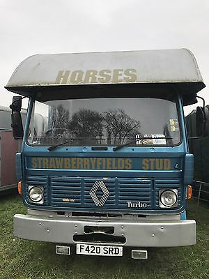 ***REDUCED**** Renault 7.5ton 3horse horsebox Coachbuilt, plating (MOT) May 2018