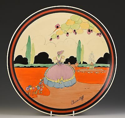 Clarice Cliff  THRELFALLS BREWERY APPLIQUE IDYLL WALL PLAQUE C.1932