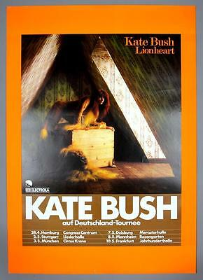 KATE BUSH - mega rare original Germany 1979 LIONHEART concert poster