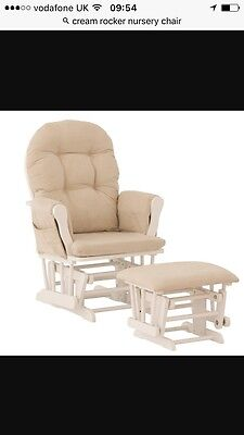 Cream Nursery Rocking Chair
