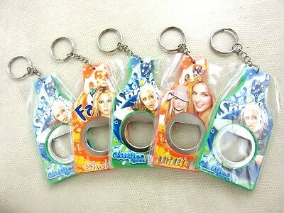 5 Pieces Bottle Opener Key Chain Thai Collectible Free Superstar Artist New Lot