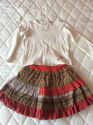 M&S Autograph Girls Skirt And Matching Top Size 4-5