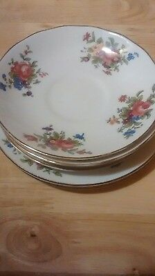 Crown staffordshire fine bone china,4 saucers and 2 side,sandwich,cake plates