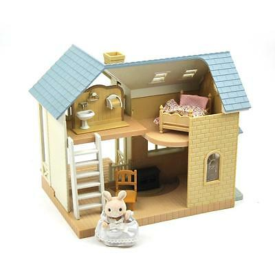 Sylvanian Families Riverside Lodge Cottage Includes Furniture and Figure