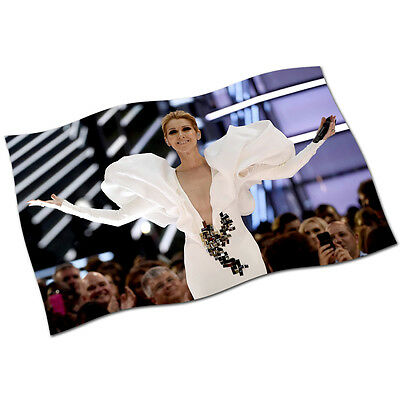 """Celine Dion Flag Banner 30"""" NEW 2017 My Heart Will Go On I Drove All Night Live"""
