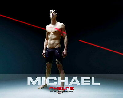 """050 Michael Phelps - Team USA Swimming Gold Champion Olympic 17""""x14"""" Poster"""