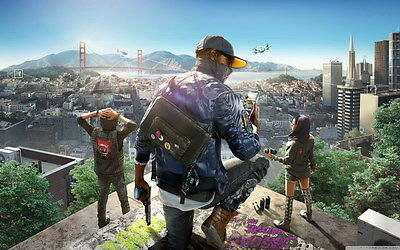 """027 WATCH DOGS 2 - Fighting Hot TV Game 38""""x24"""" Poster"""