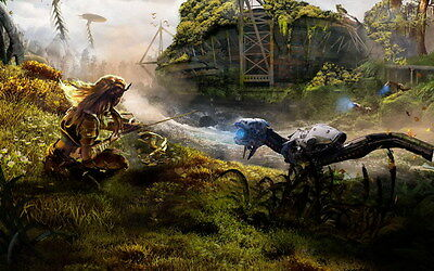 "043 Horizon Zero Dawn - Aloy Adventure Role Play Game 38""x24"" Poster"