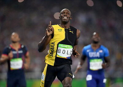 "062 Usain Bolt - 100 m Running Jamaica Game Champion Olympic 33""x24"" Poster"