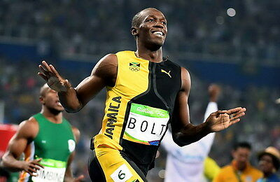 "059 Usain Bolt - 100 m Running Jamaica Game Champion Olympic 36""x24"" Poster"