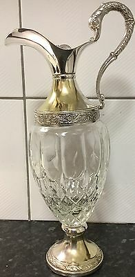 ***REDUCED***Vintage Glass and Silver Plated Claret Jug Decanter