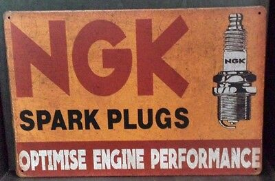 NGK .  Garage Retro Vintage Metal Tin Sign Rustic Look .. MAN CAVE