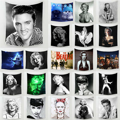 Marilyn Monroe Elvis Presley Polyester Hanging Tapestry Wall Sticker Home Decor