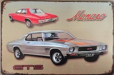 MONARO Tin Metal Sign Rustic Vintage Look .. MAN CAVE . brand new. AU SELLER