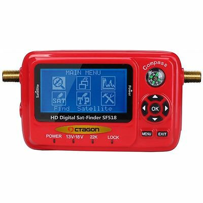 Octagon Satfinder Sat Finder digital SF 518 HD LCD Display Spektrum Analyzer USB