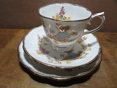 Royal Albert Dainty Dinah Trio Cup Saucer Plate Bone China