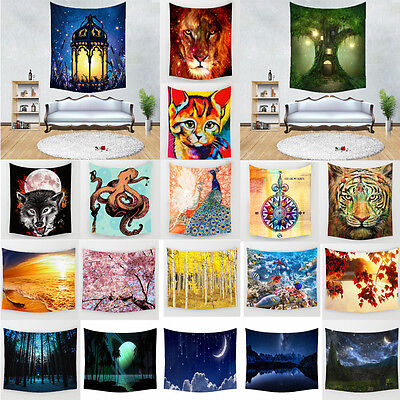 Nature Polyester Tapestry Tableclothes Wall Sticker Beach Towel Home Decor