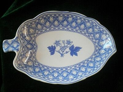 Leaf Tray dish in Blue Geranium by Spode
