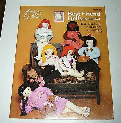 Best Friend Dolls, 48 inch Doll patterns.# 12, 1984 pull out sewing pattern