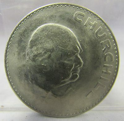 1965 Winston Churchill Commemorative Crown Coin in Midland bank plastic case
