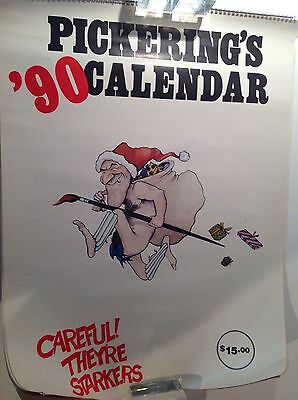 Pickerings Playmates 1990 Calendar