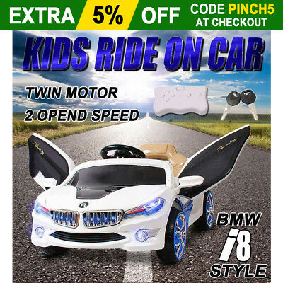 BMW i8 Style Kids Children Electric Ride On Car Toys 2 Speed Remote Battery