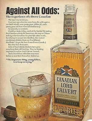 1968 Canadian Lord Calvert Whisky Print Ad Imported
