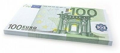 75 X ?100 EURO Cashbricks Play Money Notes - Size: 125%