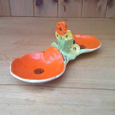 Vintage Double Poppy Butter/Preserve Breakfast Dishes