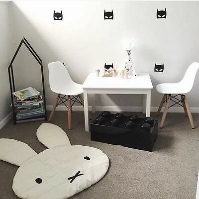 Rabbit Play Mat Children Room Decoration Kids Carpet Blanket Black & White Gift