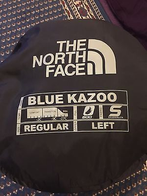 The North Face Blue Kazoo Down Sleeping Bag Regular Left Zip Excellent