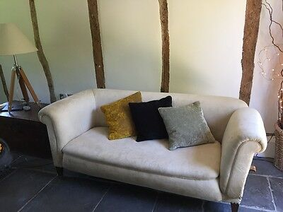 Victorian drop arm 2-seater sofa, needs reupholstering really