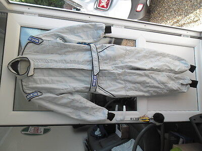 SPARCO RACE SUIT,OVERALL,Size 56,3 layer NOMEX,FiA APPROVED,Track Day,Race,Kart,