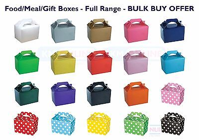 Children Kid Color Birthday Wedding Party Meal Lunch Food Gift Loot Bag Box BULK