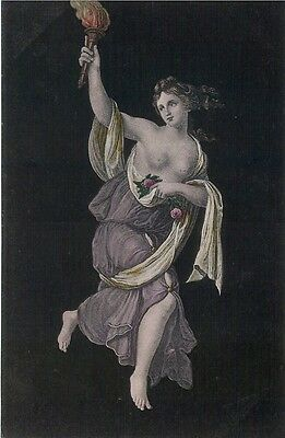 Vintage Postcard Classical Woman with Flame Unused