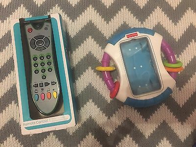 New £25 ➕1 Year Baby Remote Control Tv Phone Case Laugh N Learn Fisher Price