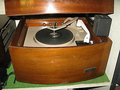 Pye Black Box  British Hi-Fi Pecord Player All Valve With A Crafted Bow Cabinet