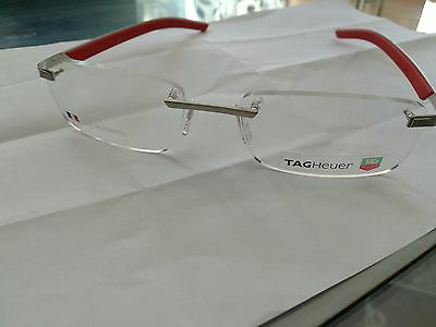 mens tag heuer rimless glasses