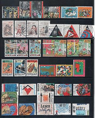 NETHERLANDS - Mixed lot of 38 Stamps incl Sets, most Good to Fine Used, LH