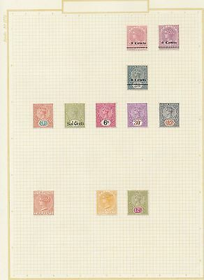 3741) Ceylon 10892-1947, Small Collection Mint/used, +Rupee Values