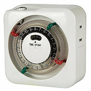 TORK Timer, Indoor Lamp and Appliance, 120V, SA011, White