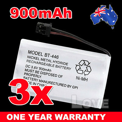 OZ for Uniden BT-446 BT-909 BT-750 3.6V 900mAh Cordless Phone Battery Ni-MH 3X